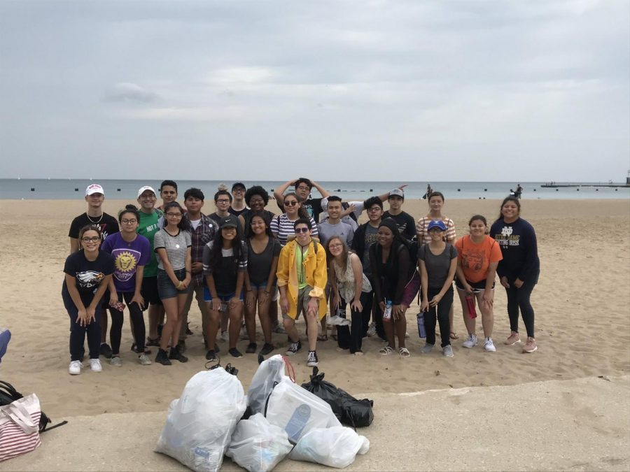 West+Leyden+Ecology+Cleans+The+Beach+Homecoming+Morning