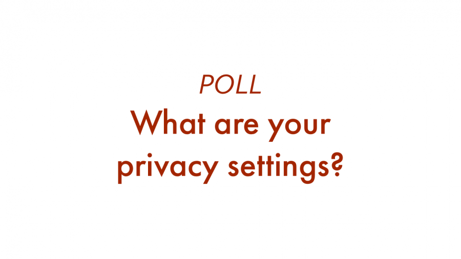 Poll - What are your privacy settings?